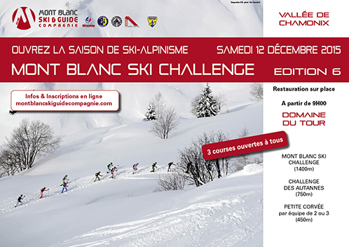 ski alpinisme mont blanc ski challenge le 12 d cembre chamonix kairn. Black Bedroom Furniture Sets. Home Design Ideas