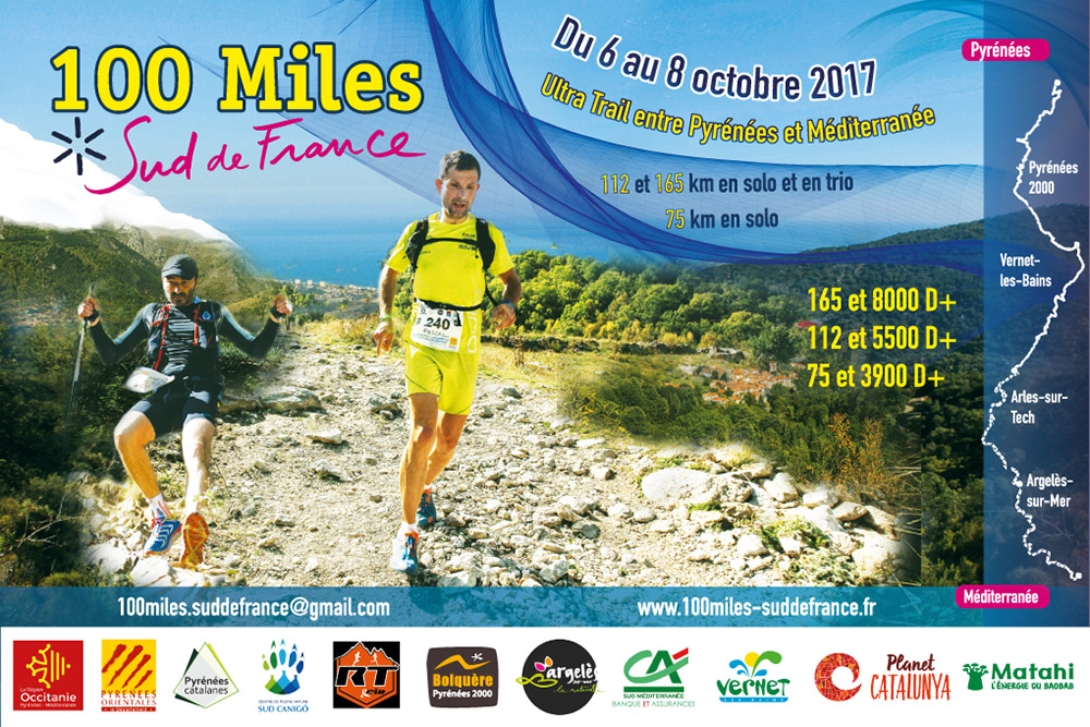 Affiche Ultratrail 100 miles 2017