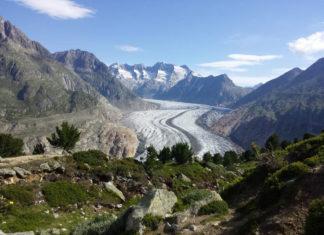 Bassin glacière d'Aletsch - photo Laurent BAILLET et AFP