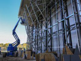 Mur extérieur Climb'Up Aix - Le chantier