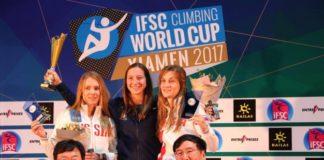Anouck Jaubert Championne du monde 2017 d'escalade de vitesse