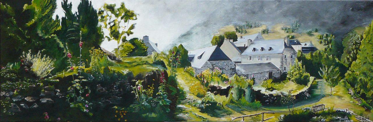 Camille peint Semaine 4 - Aulon 1220