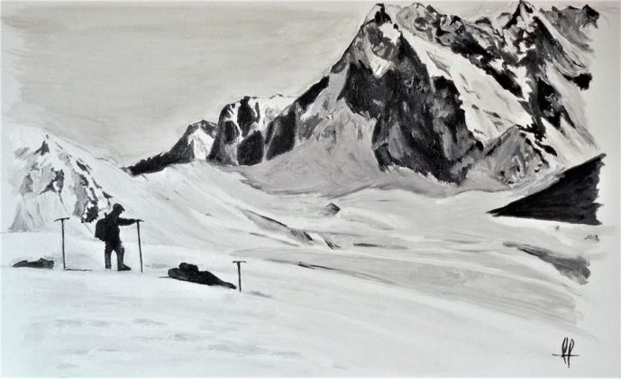 Camille peint Semaine 6 - Col du Tourmalet