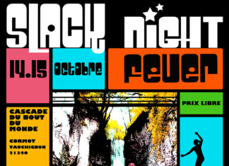 Slack Night Fever 2017 Event escalade Baderne