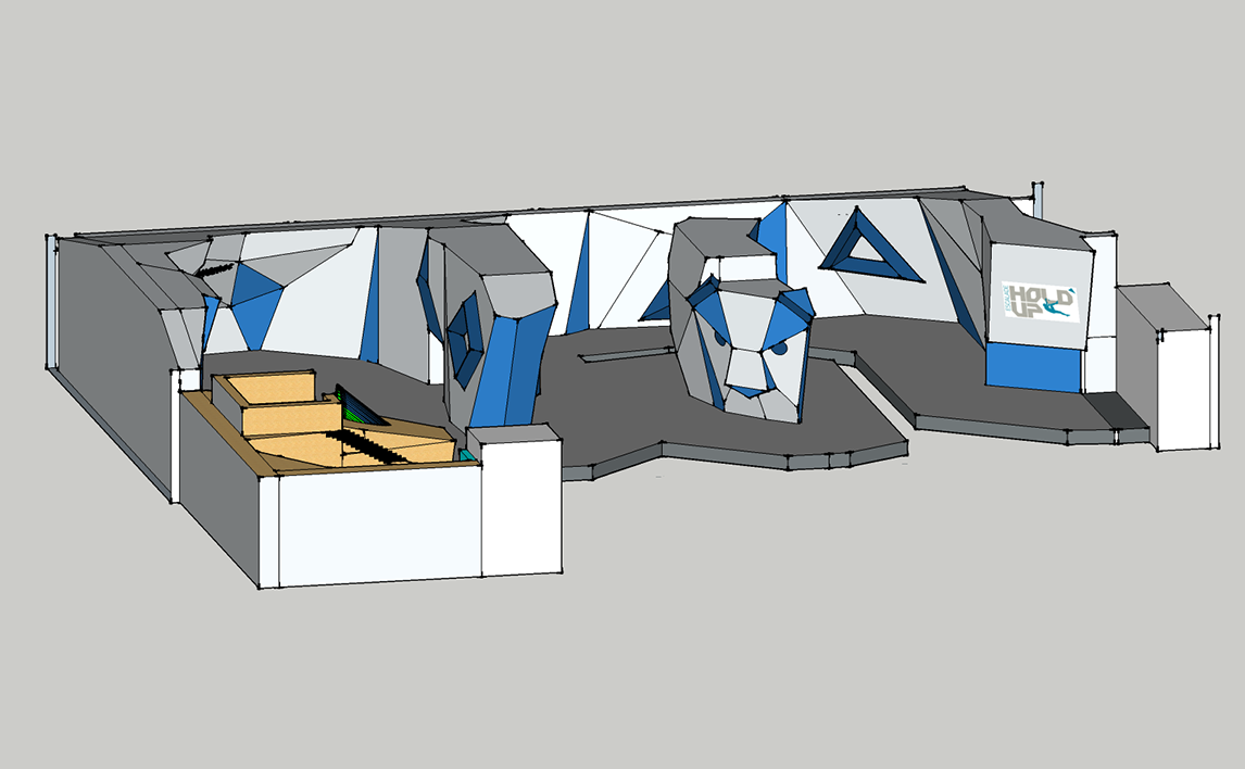Plan 3D salle Hold-Up